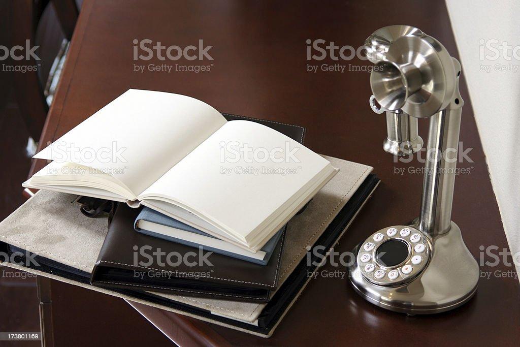 Diary Desk stock photo