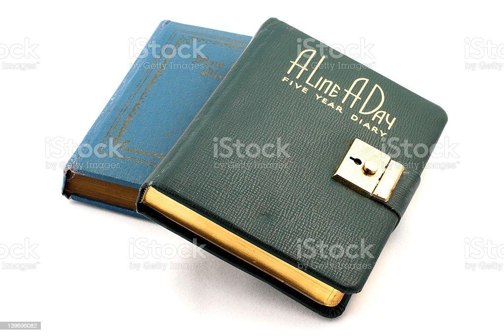Diary locked royalty-free stock photo