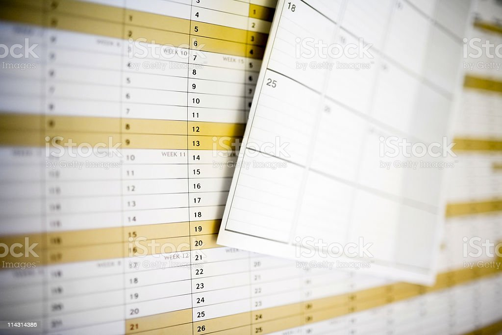 Diary on year planner royalty-free stock photo