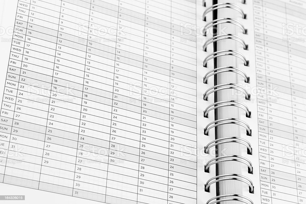 Diary pages royalty-free stock photo