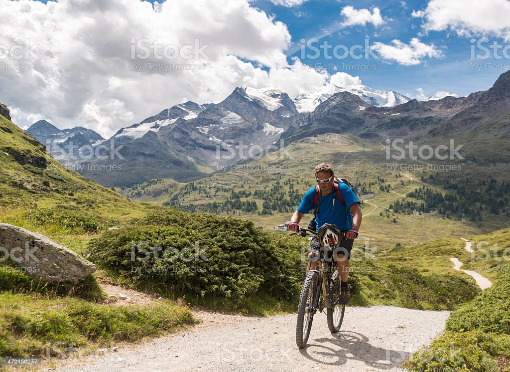 Diavolezza Uphill, Switzerland stock photo