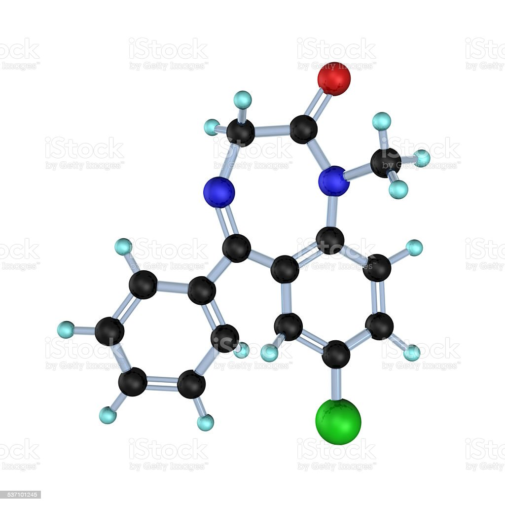 Diazepam Molecule stock photo