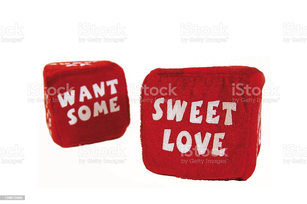 Dice 03 - Want Some Sweet Love stock photo