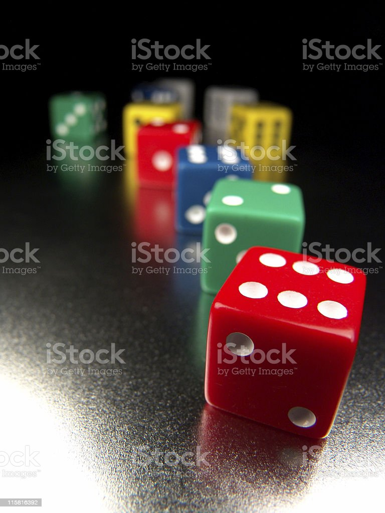 Dice, A Rainbow of Colors royalty-free stock photo
