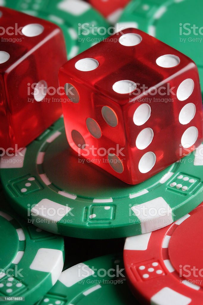 Dice and Chips royalty-free stock photo