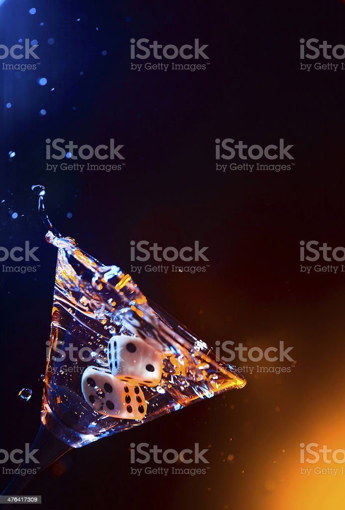 dice and martini royalty-free stock photo