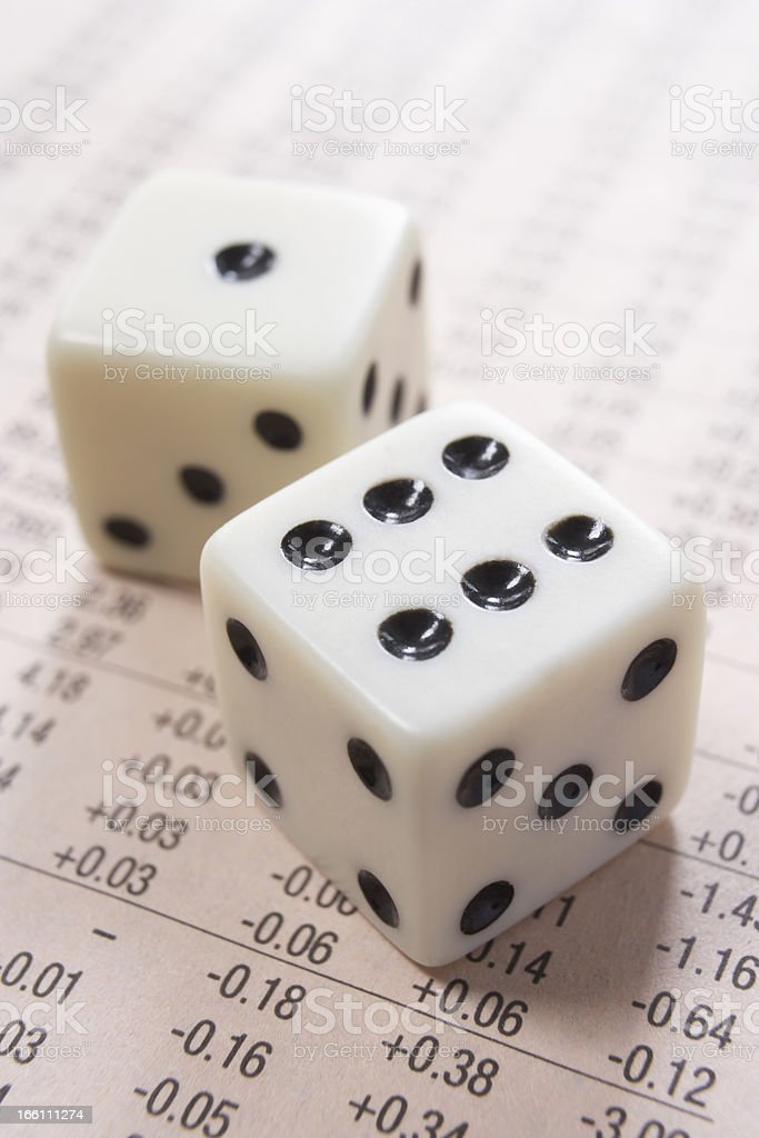 dice and numbers royalty-free stock photo