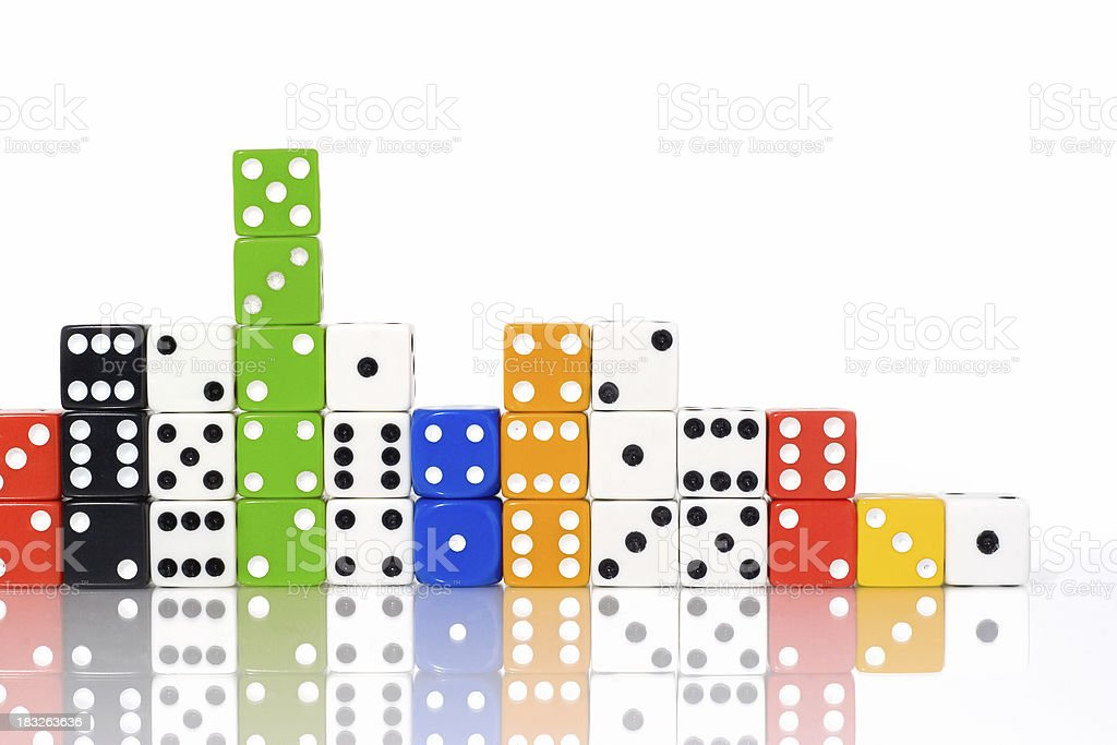 Dice City royalty-free stock photo