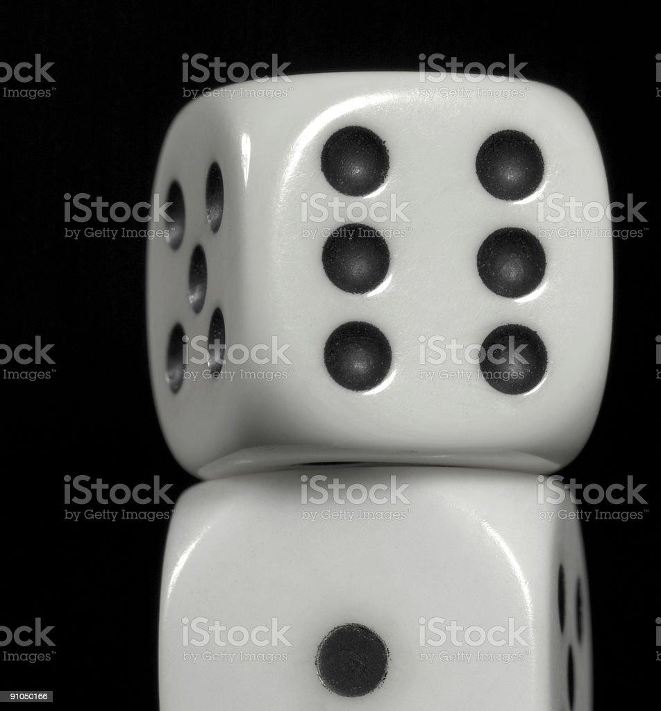 dice closeup stock photo