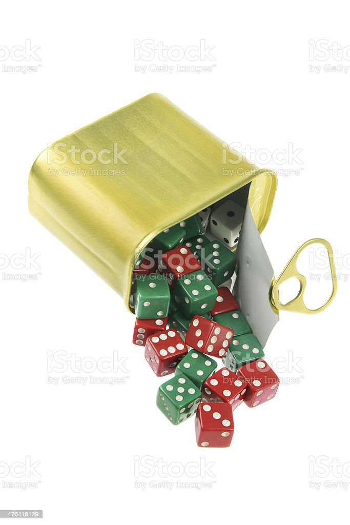 Dice in Can royalty-free stock photo