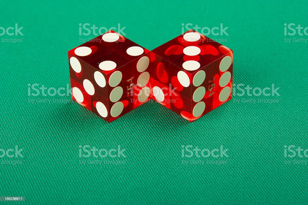 dice on casino table royalty-free stock photo