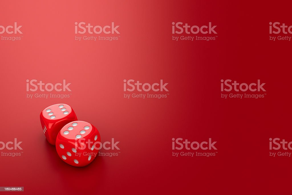 Dice on the red royalty-free stock photo
