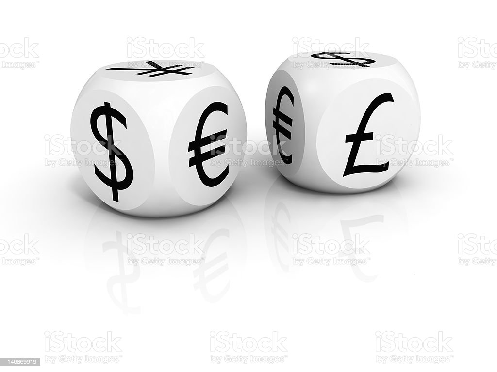 FOREX dice royalty-free stock photo