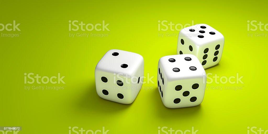 3 dice stock photo