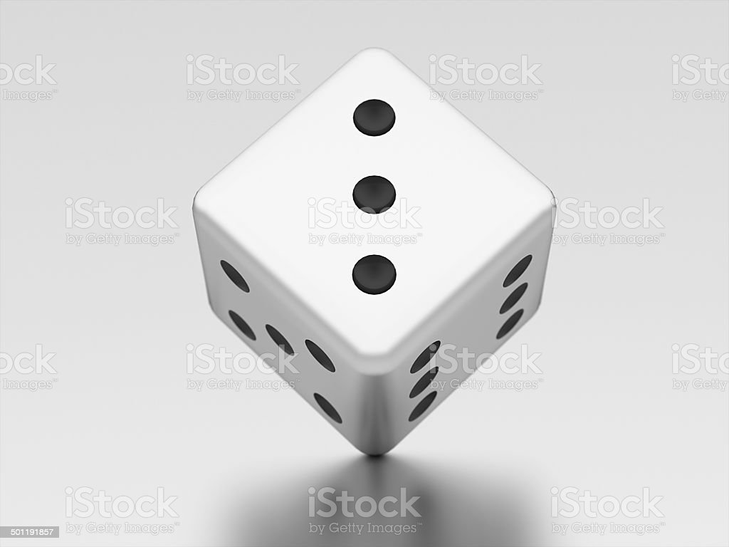 Dice risk rendered stock photo