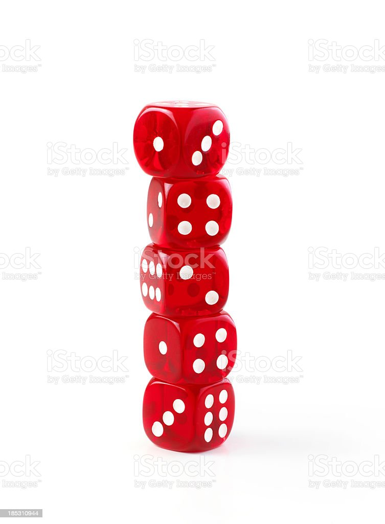 dice stack royalty-free stock photo