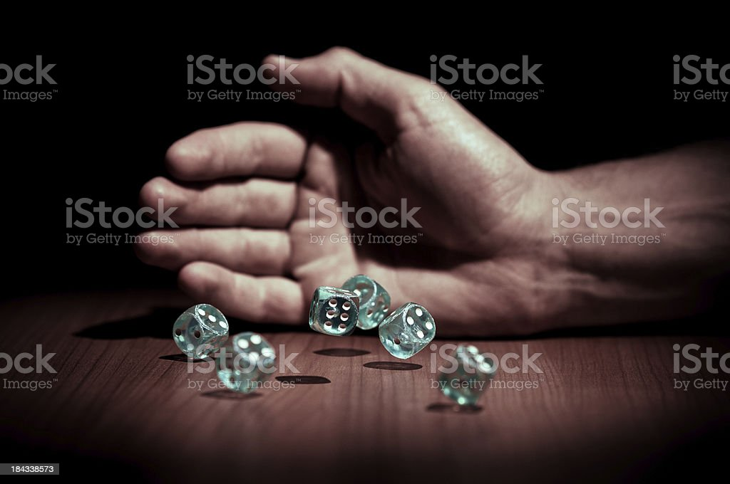 Dice throw royalty-free stock photo