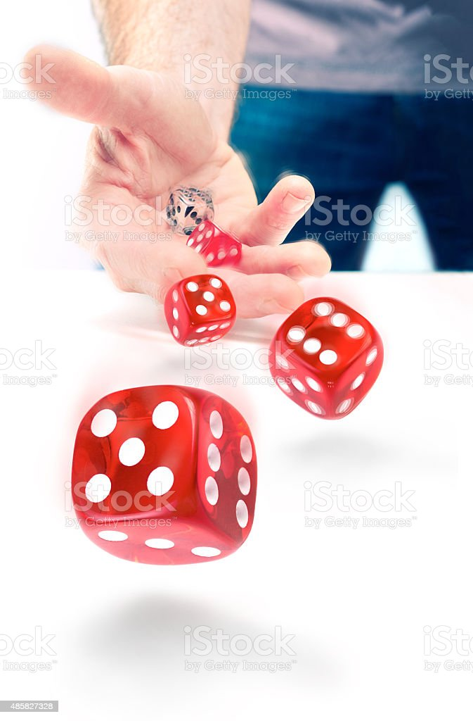 Dice Throw stock photo