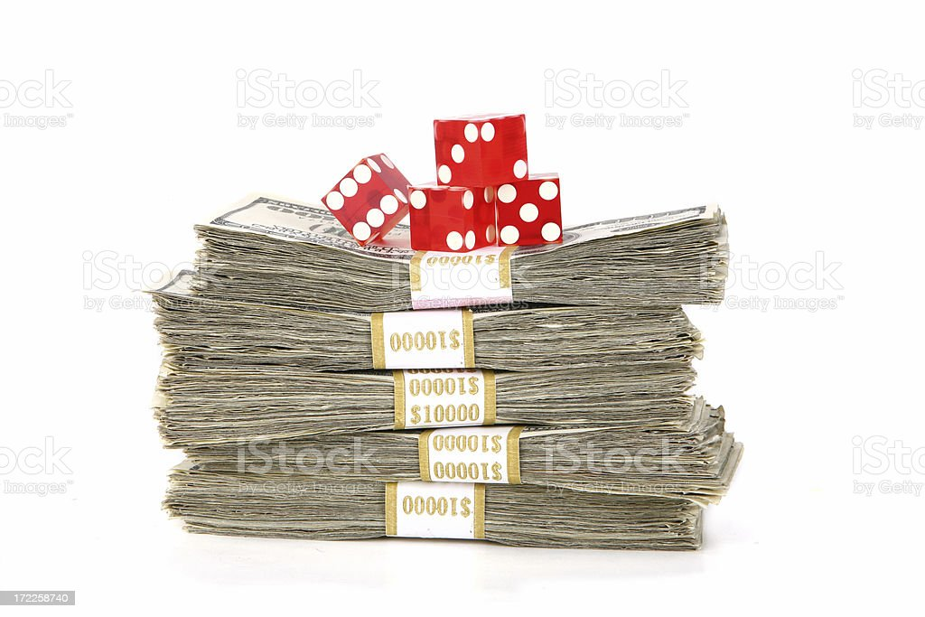 Dice Tournament Cash Prize royalty-free stock photo