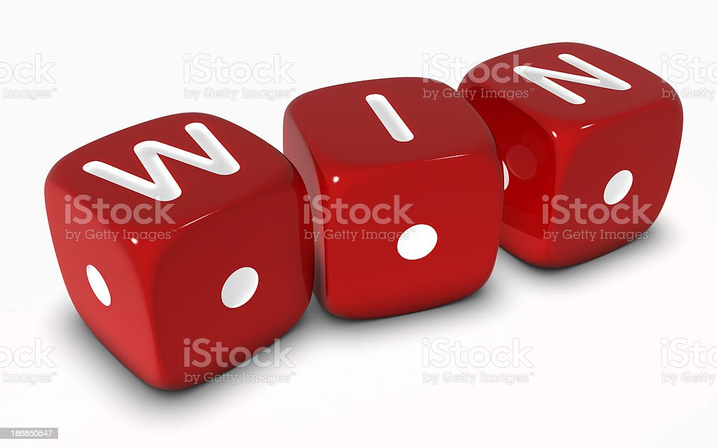 Dice Win royalty-free stock photo