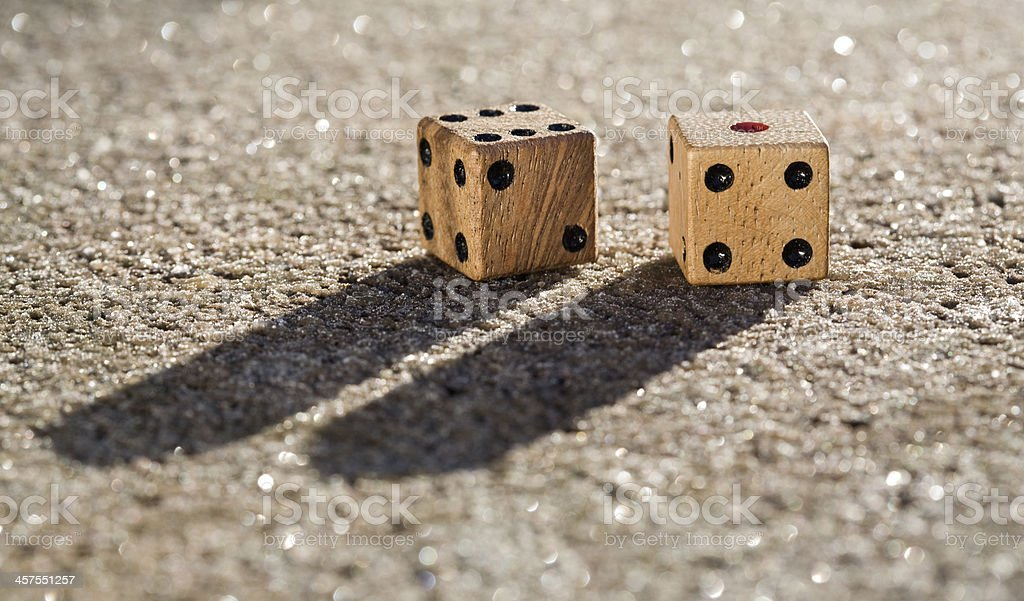 Dice with shadow stock photo