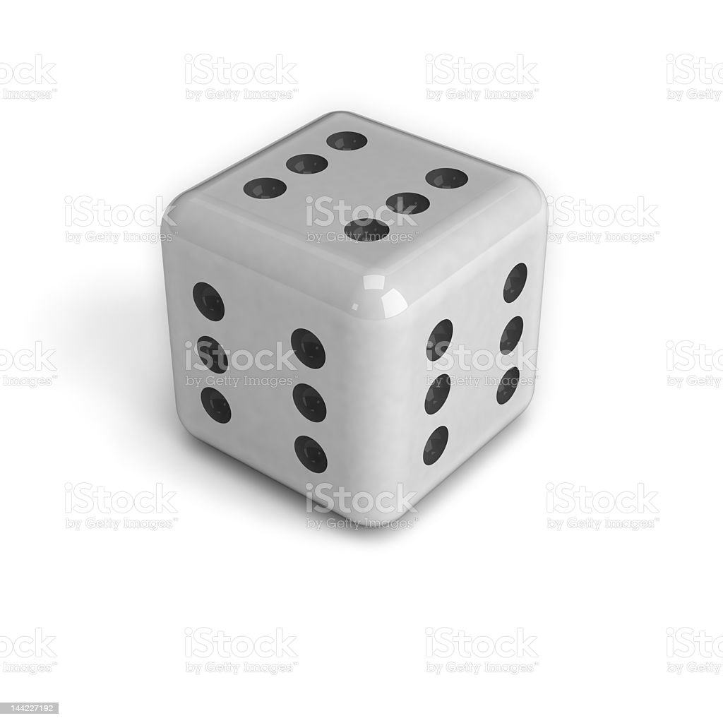 Dice with six in every face royalty-free stock photo