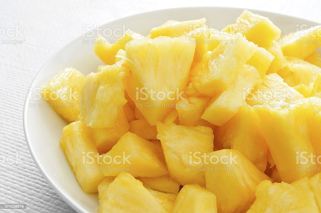 diced pineapple royalty-free stock photo