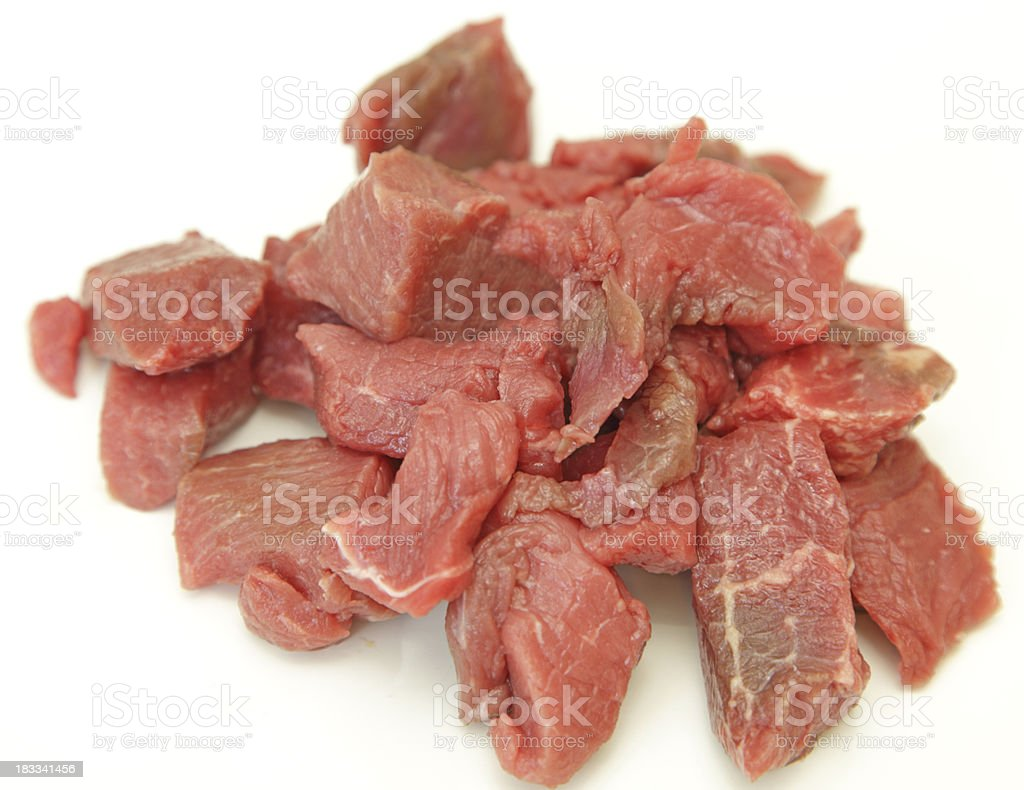 diced red meat stock photo