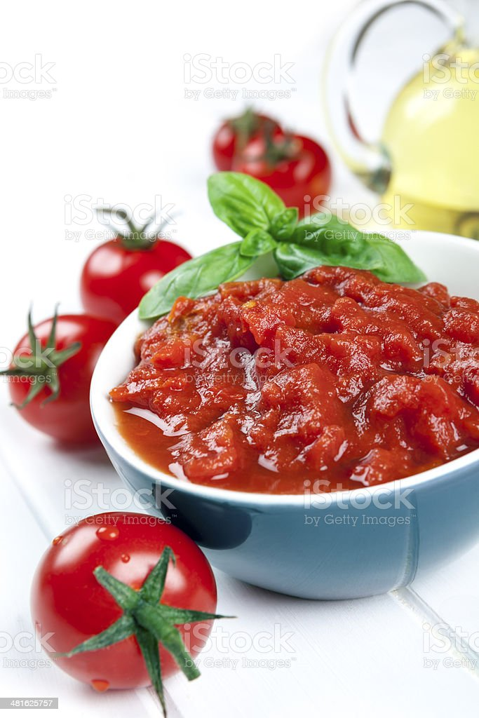 Diced Tomatoes stock photo