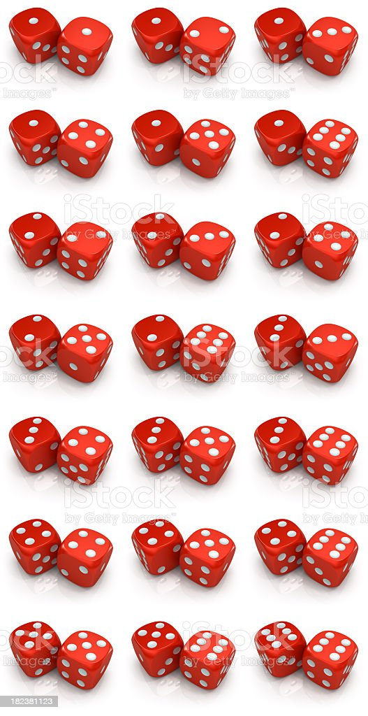 Dices all variations stock photo