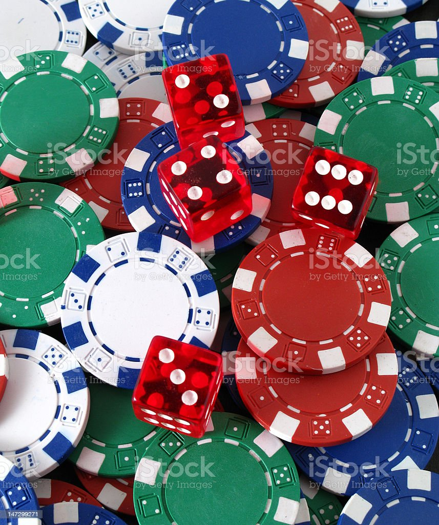 dices and cards royalty-free stock photo