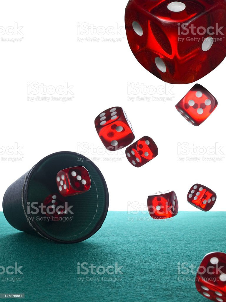 Dices and shaker royalty-free stock photo