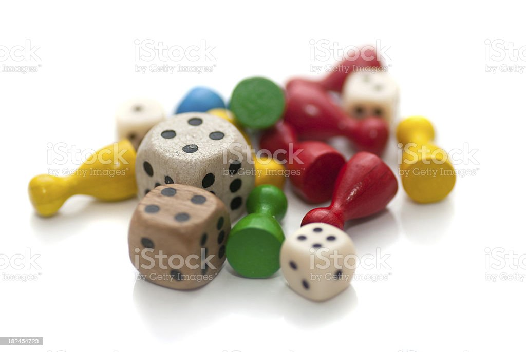 dices and toys stock photo