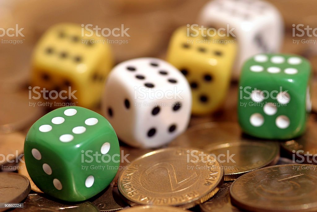 Dices can bring money royalty-free stock photo