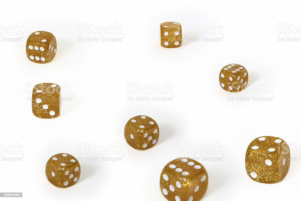 Dices in different sizes and positions royalty-free stock photo