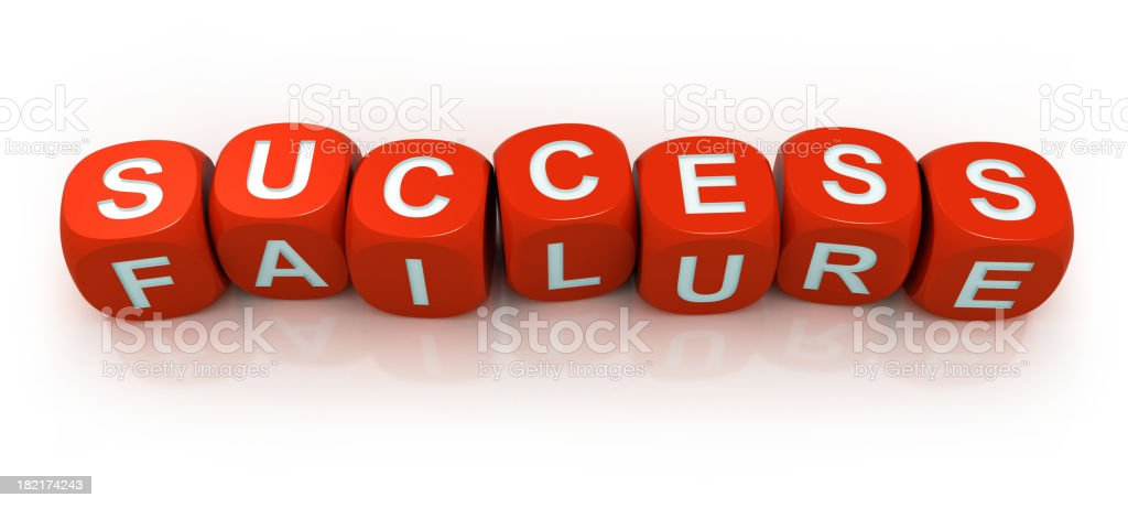 Dices - success or failure royalty-free stock photo
