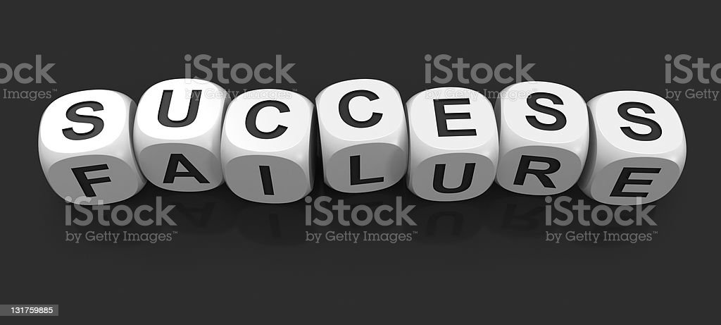 Dices - success or failure v2 royalty-free stock photo