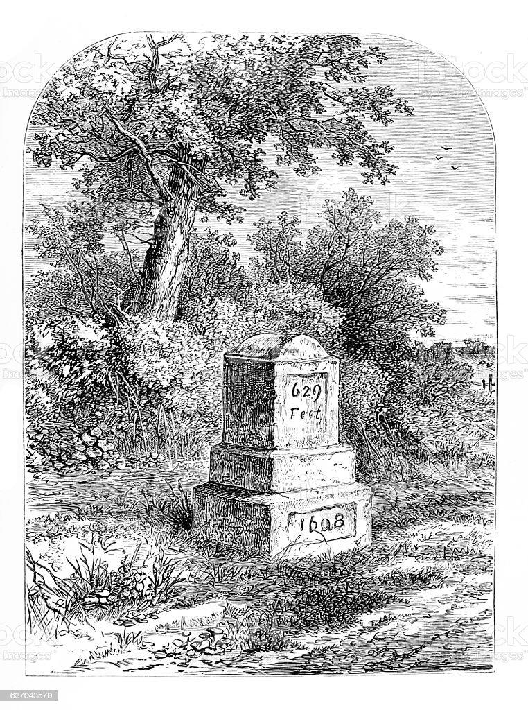 Dick Whittington's Stone at Highgate Hill, London stock photo