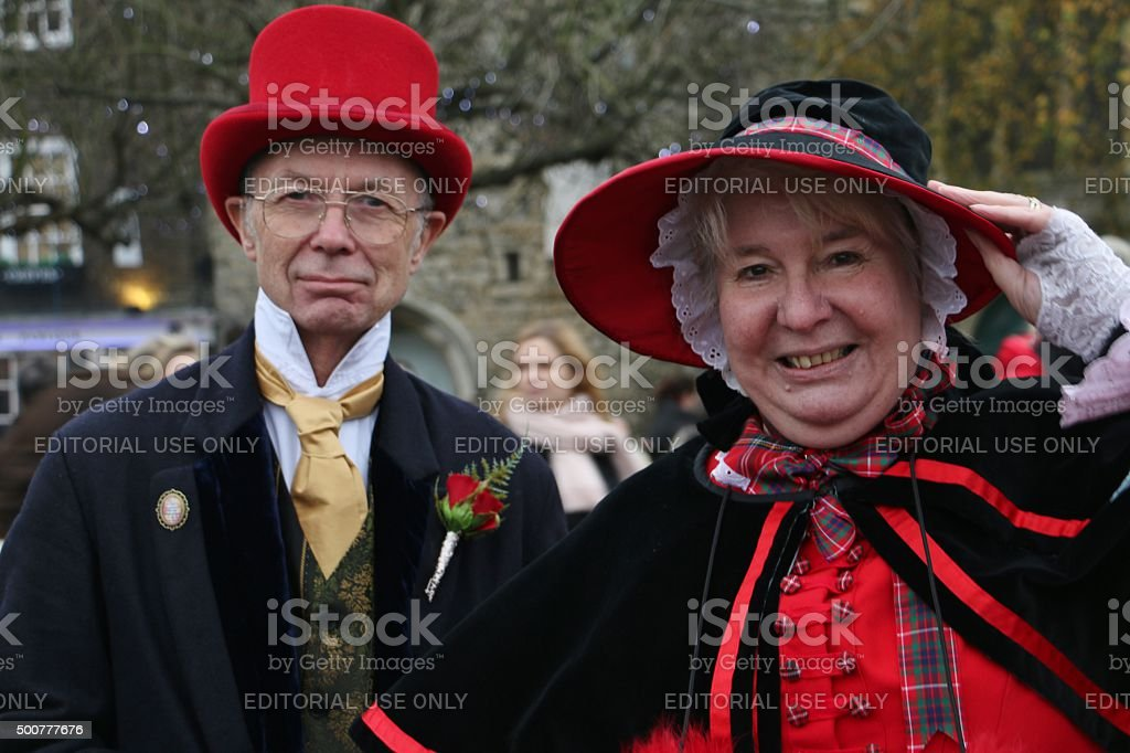Dickens christmas festival rochester stock photo