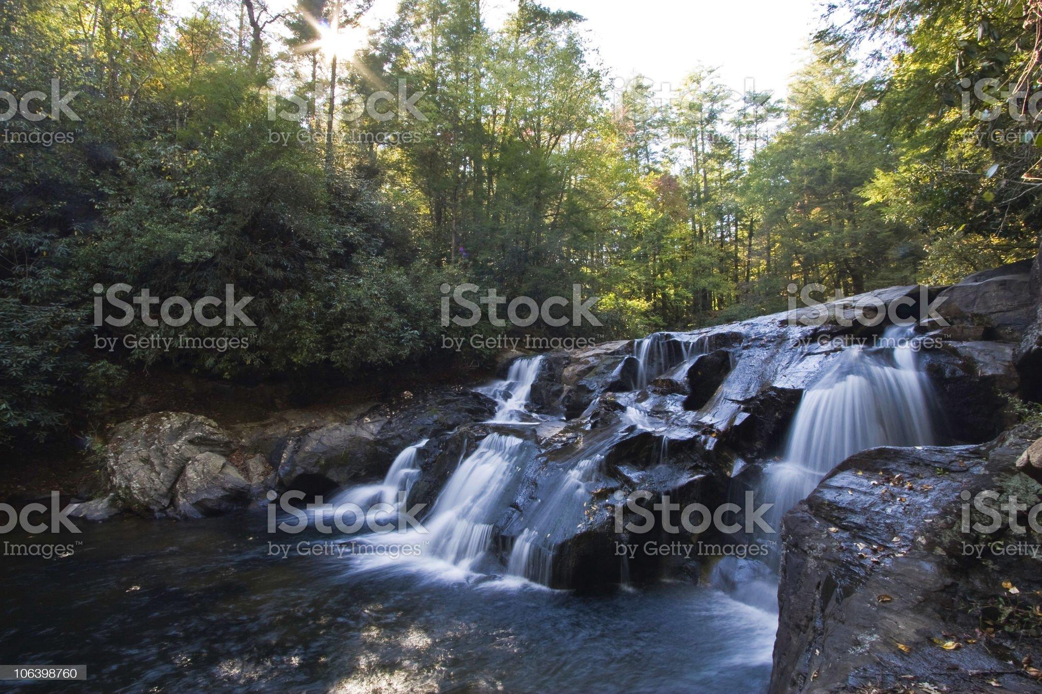 Dick's creek falls royalty-free stock photo
