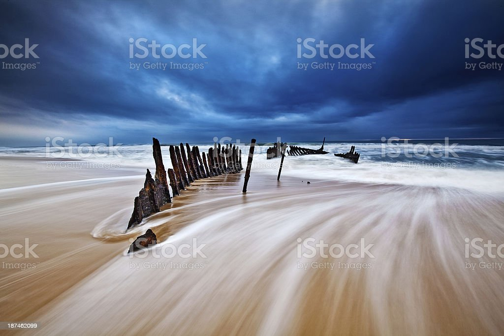 SS Dicky Shipwreck royalty-free stock photo