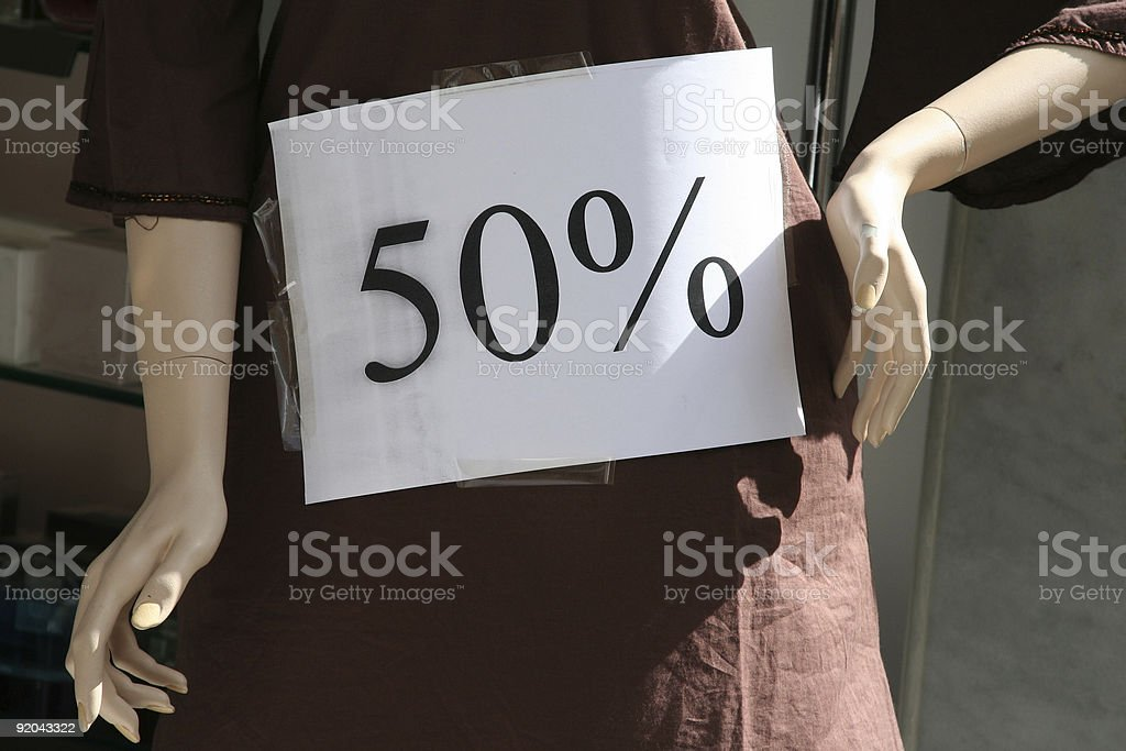 Dicount, 50 % off royalty-free stock photo