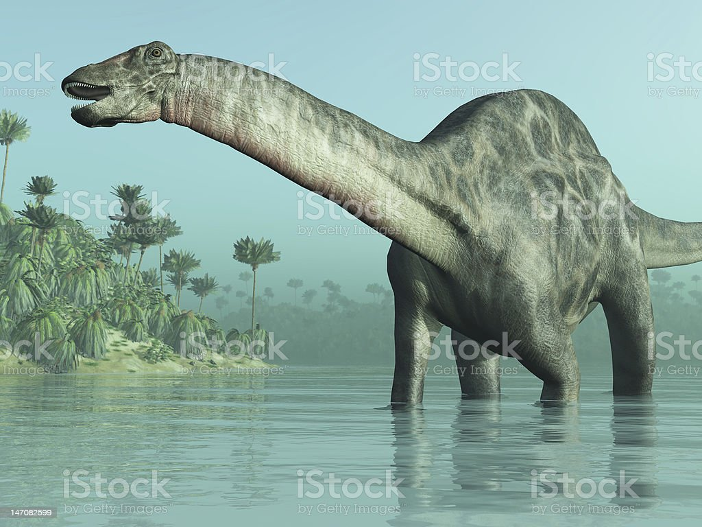 Dicraeosaurus Dinosaur stock photo