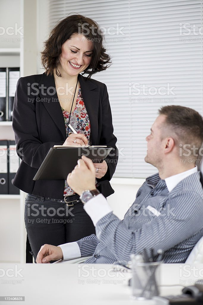 Dictating royalty-free stock photo