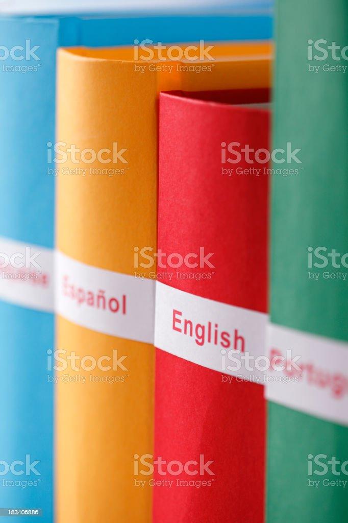 Dictionaries royalty-free stock photo
