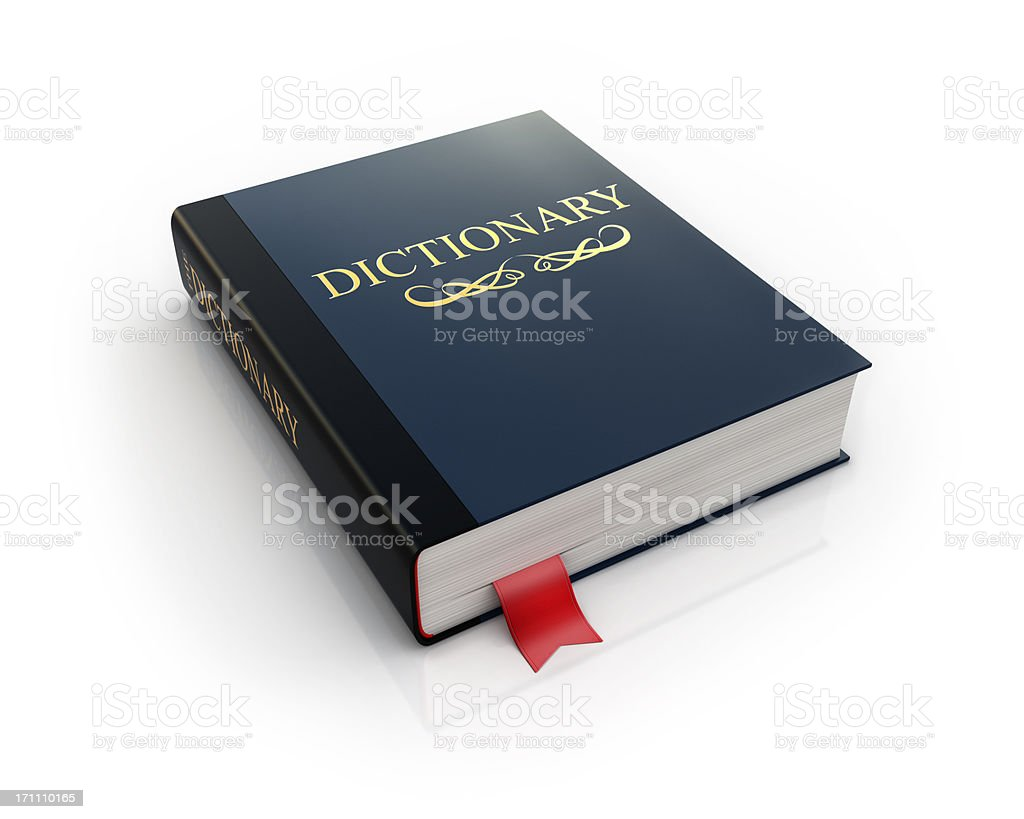Dictionary book icon stock photo