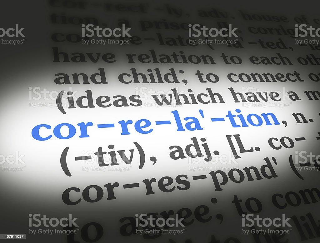 Dictionary Correlation stock photo