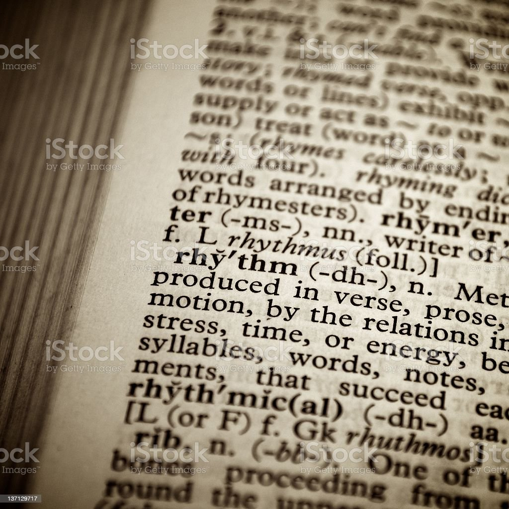 Dictionary definition of the word