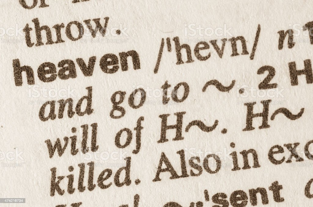 Dictionary definition of word haeven stock photo