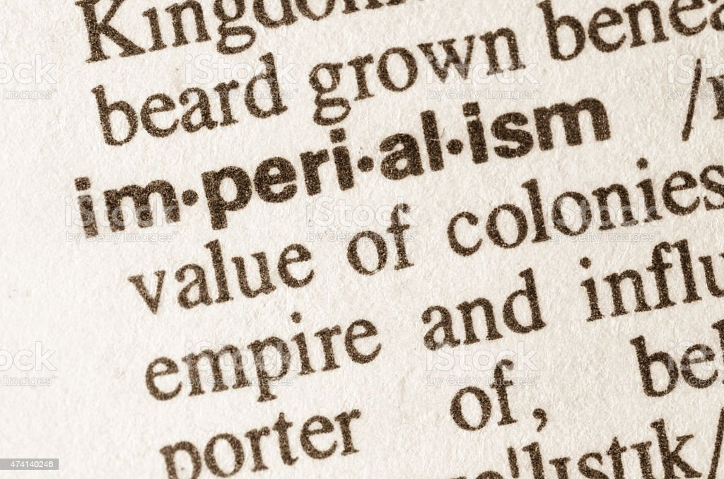 Dictionary definition of word imperialism stock photo